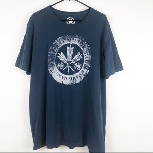 Lucky Brand Samurai Motor Club Graphic Tee